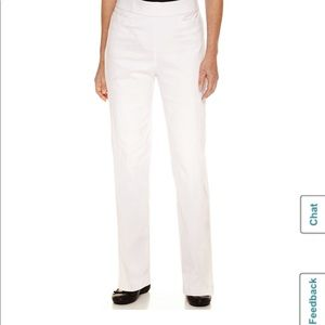 Alfred Dunner Classics Womens High Waisted Slim
